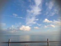 Η θάλασσα συναντά τους ουρανούς Στοκ εικόνα με δικαίωμα ελεύθερης χρήσης