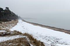 Η θάλασσα της Βαλτικής και ομιχλώδες πρωί Στοκ εικόνα με δικαίωμα ελεύθερης χρήσης