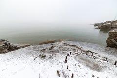 Η θάλασσα της Βαλτικής και ομιχλώδες πρωί Στοκ εικόνες με δικαίωμα ελεύθερης χρήσης