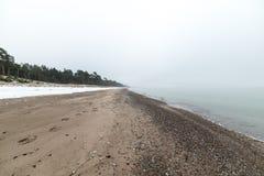 Η θάλασσα της Βαλτικής και ομιχλώδες πρωί Στοκ Εικόνες