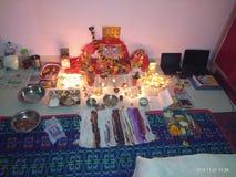 Η θέση Diwali λατρείας γιορτάζει στοκ φωτογραφίες