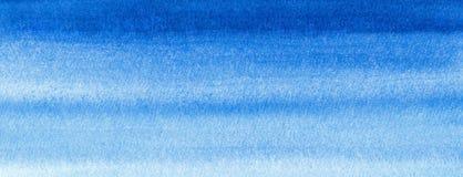Η θαλάσσια ή μπλε ναυτική κλίση watercolor εμβλημάτων Ιστού γεμίζει το υπόβαθρο Λεκέδες Watercolour Χρωματισμένο περίληψη πρότυπο ελεύθερη απεικόνιση δικαιώματος