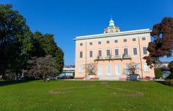 Η θαυμάσια βίλα Ciani, ορόσημο του Λουγκάνο, Ελβετία Στοκ φωτογραφίες με δικαίωμα ελεύθερης χρήσης