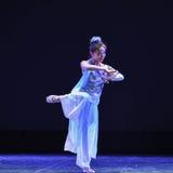 Η θεά του φεγγαριού ο χορός-εθνικός λαϊκός χορός Στοκ Εικόνες