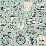 Η θερινή καλή διάθεση doodles έθεσε Στοκ Εικόνες