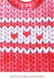 Η θερμή ένδυση κοιτάζει Χρωματισμένο χέρι πλέκοντας σακάκι Στοκ φωτογραφία με δικαίωμα ελεύθερης χρήσης