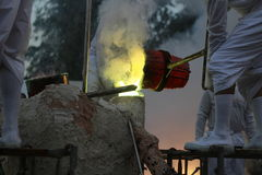 Η θερμότητα εργασιών ρίψης Στοκ Εικόνες