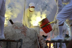 Η θερμότητα εργασιών ρίψης Στοκ Φωτογραφία
