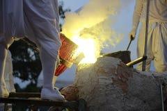 Η θερμότητα εργασιών ρίψης Στοκ φωτογραφίες με δικαίωμα ελεύθερης χρήσης