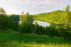 Η θεϊκά λίμνη και τα δέντρα Στοκ φωτογραφίες με δικαίωμα ελεύθερης χρήσης