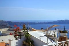 Η θεϊκή θέση Santorini Στοκ Εικόνες