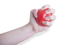 η θηλυκή εκμετάλλευση καρδιών χεριών ανασκόπησης απομόνωσε το λευκό Στοκ Εικόνες