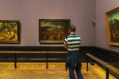 Η θλιβερή ημέρα 1565 από το Pieter Brueghel ο παλαιότερος σε Kunsthisto Στοκ φωτογραφία με δικαίωμα ελεύθερης χρήσης
