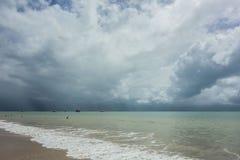 Η θύελλα έρχεται στη θάλασσα Στοκ φωτογραφίες με δικαίωμα ελεύθερης χρήσης