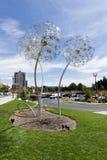 Η θύελλα κλέβει τους σπόρους του αγάλματος στοκ εικόνα
