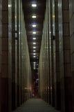 Η διάβαση πεζών τη νύχτα Στοκ φωτογραφία με δικαίωμα ελεύθερης χρήσης