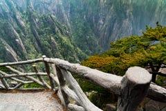 Η διάβαση πεζών του βουνού Huangshan, Anhui, Κίνα Στοκ εικόνες με δικαίωμα ελεύθερης χρήσης