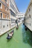 Η διάσημη γέφυρα των στεναγμών στη Βενετία, Ιταλία Στοκ Φωτογραφία