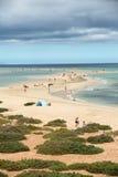 Η διάσημη λιμνοθάλασσα Risco Ελ Πάσο Playas de Sotavento Στοκ Φωτογραφίες
