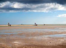 Η διάσημη λιμνοθάλασσα Risco Ελ Πάσο Playas de Sotavento, Fuerteventura Στοκ φωτογραφία με δικαίωμα ελεύθερης χρήσης