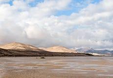 Η διάσημη λιμνοθάλασσα Risco Ελ Πάσο Playas de Sotavento, Fuerteventura Στοκ φωτογραφίες με δικαίωμα ελεύθερης χρήσης