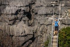 Η διάσημη κρεμώντας γέφυρα Ankarana Στοκ εικόνες με δικαίωμα ελεύθερης χρήσης