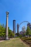 Η διάσημη στο κέντρο της πόλης Ατλάντα σε μια ημέρα μπλε ουρανού, Στοκ Εικόνα