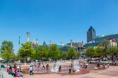 Η διάσημη στο κέντρο της πόλης Ατλάντα σε μια ημέρα μπλε ουρανού, Στοκ Φωτογραφίες