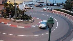 Η διάσημη F1 στροφή στο χρονικό σφάλμα του Μονακό απόθεμα βίντεο