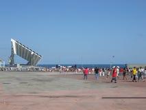 Η διαγώνιος χαλά τη Βαρκελώνη Στοκ εικόνες με δικαίωμα ελεύθερης χρήσης