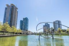 Η διαγώνιος χαλά το πάρκο, Βαρκελώνη Στοκ Εικόνα