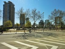 Η διαγώνιος χαλά το πάρκο, Βαρκελώνη Στοκ φωτογραφία με δικαίωμα ελεύθερης χρήσης