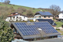Ηλιακά πλαίσια στη γερμανική πόλη στοκ φωτογραφία με δικαίωμα ελεύθερης χρήσης