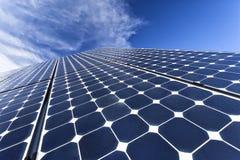 Ηλιακά φωτοβολταϊκά κύτταρα Στοκ εικόνα με δικαίωμα ελεύθερης χρήσης