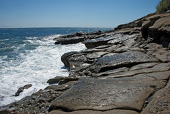 Ηλιακές αντανακλάσεις στα κύματα της Μαύρης Θάλασσας Στοκ φωτογραφία με δικαίωμα ελεύθερης χρήσης