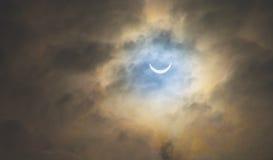 Ηλιακή έκλειψη Αγγλία Στοκ Φωτογραφία