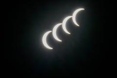 Ηλιακή έκλειψη με τα αφηρημένα υπόβαθρα Στοκ εικόνα με δικαίωμα ελεύθερης χρήσης