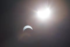 Ηλιακή έκλειψη Ντάλλας Τέξας Στοκ φωτογραφία με δικαίωμα ελεύθερης χρήσης