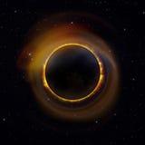 Ηλιακή έκλειψη στον έναστρο ουρανό Στοκ Φωτογραφία