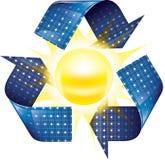 ηλιακή έκδοση ισχύος επιτροπής ανασκόπησης μπλε Στοκ φωτογραφία με δικαίωμα ελεύθερης χρήσης