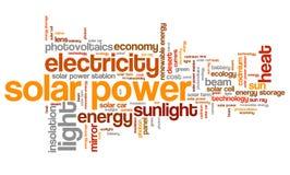 ηλιακή έκδοση ισχύος επιτροπής ανασκόπησης μπλε Στοκ φωτογραφίες με δικαίωμα ελεύθερης χρήσης