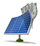 Ηλιακή ενέργεια - έννοια αποταμίευσης διανυσματική απεικόνιση