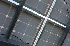 Ηλιακή ενέργεια, ηλιακά πλαίσια, ανανεώσιμες ενέργειες, ενότητες PV Στοκ Φωτογραφία