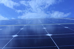 Ηλιακή ενέργεια, ηλιακά πλαίσια, ανανεώσιμες ενέργειες Στοκ Εικόνα