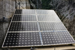 Ηλιακή επιτροπή μπαταριών, περιοχή βουνών του Μαυροβουνίου Στοκ εικόνα με δικαίωμα ελεύθερης χρήσης