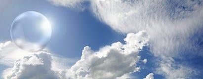 Ηλιακή φυσαλίδα που συλλαμβάνει την ενέργεια του ήλιου Στοκ φωτογραφίες με δικαίωμα ελεύθερης χρήσης