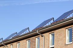 Ηλιακοί θερμικοί συλλέκτες 02 Στοκ Φωτογραφίες