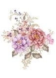 η διακοσμητική εικόνα απεικόνισης πετάγματος ραμφών το κομμάτι εγγράφου της καταπίνει το watercolor απεικόνιση αποθεμάτων