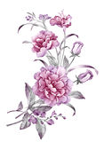 η διακοσμητική εικόνα απεικόνισης πετάγματος ραμφών το κομμάτι εγγράφου της καταπίνει το watercolor Στοκ εικόνα με δικαίωμα ελεύθερης χρήσης