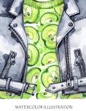 η διακοσμητική εικόνα απεικόνισης πετάγματος ραμφών το κομμάτι εγγράφου της καταπίνει το watercolor Χρωματισμένο χέρι σακάκι δέρμ Στοκ φωτογραφίες με δικαίωμα ελεύθερης χρήσης